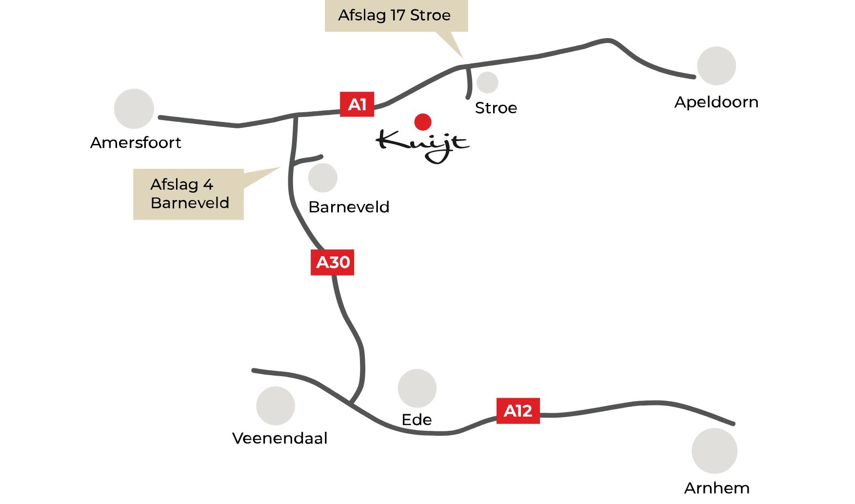 Routekaart Kuijt Mode